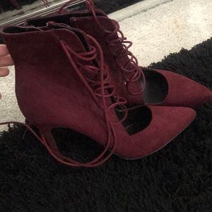 Also lace up heels